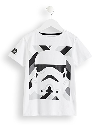 RED WAGON Camiseta Star Wars Stormtrooper Niños, Weiß (White), 4 años