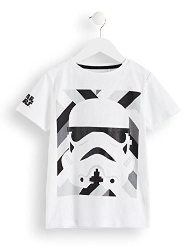 RED WAGON Jungen T-Shirt Star Wars Stormtrooper, Weiß (White), 122 (Herstellergröße: 7 Jahre)