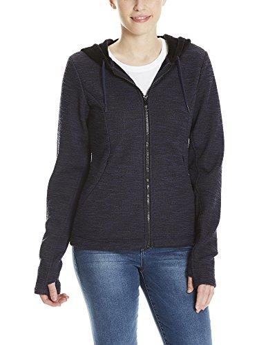 Bench Damen Jacke Bonded Short Velvet Jacket, Schwarz (Black Beauty Bk11179), X-Large (Bench Damen)