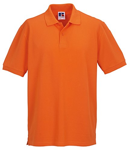 Polo da uomo, in cotone piqué Arancione