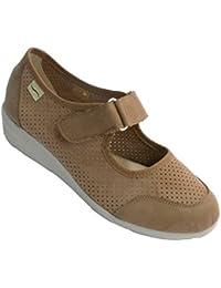 Zapato Mujer Tipo Merceditas Plantilla con Memoria platilla extraíble Doctor Cutillas en beig