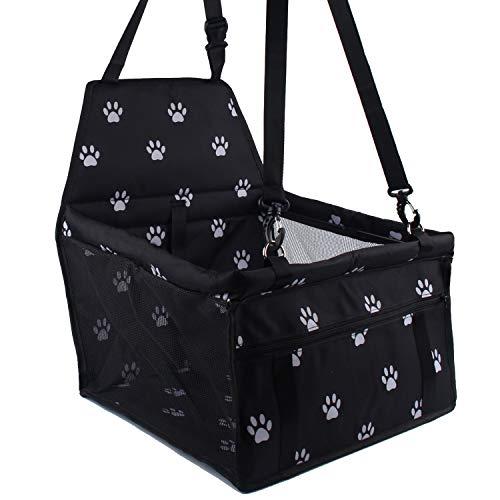 Haustier-Autositz, Minve faltender u. Wasserdichter Hund Autositz-Träger mit Sicherheitsgurt u. Aufbewahrungstasche für Hunde und Katzen