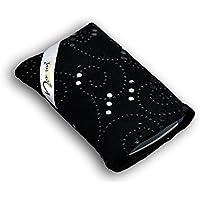 Norrun Plaidis Handytasche aus Textil-Stoff maßgeschneidert mit Mikrofasereinlage, Strahlenschutz ersetzt die Tasche von Hersteller / Modell Samsung Galaxy S6 edge