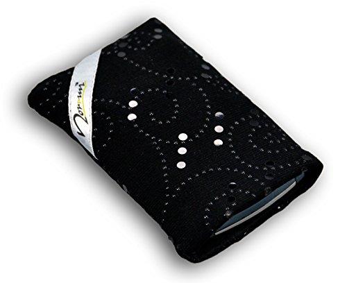 Norrun Handytasche / Handyhülle # Modell Plaidis # ersetzt die Handy-Tasche von Hersteller / Modell Samsung SGH-Z710 # maßgeschneidert # mit einseitig eingenähtem Strahlenschutz gegen Elektro-Smog # Mikrofasereinlage # Made in Germany