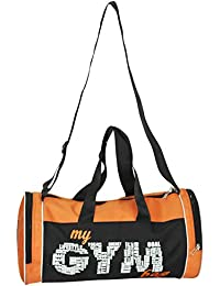 L'AVENIR Multi-Purpose MY GYM BAG Duffel Bag - Black/Orange
