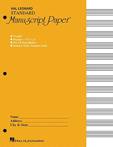 Standard Manuscript Paper: Yellow Cover