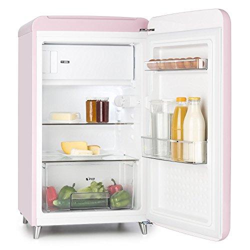 Klarstein PopArt Pink Kühlschrank mit Gefrierfach im Retro-Design - 5
