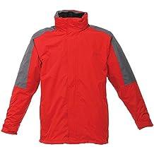 Regatta Mens Defender III 3-In-1 Jacket (Waterproof & Windproof) (L) (Classic Red / Seal Grey)