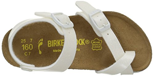 Birkenstock Taormina, Sandales Fille Blanc (Magic Galaxy White)