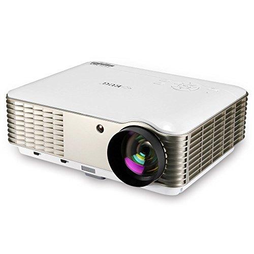 3600 Lumen Projektor HDMI Heimkino Kino-System LED 1080p HD Smart Beamer für Film Video Spiele Gaming TV Home Entertainment Party 5.8