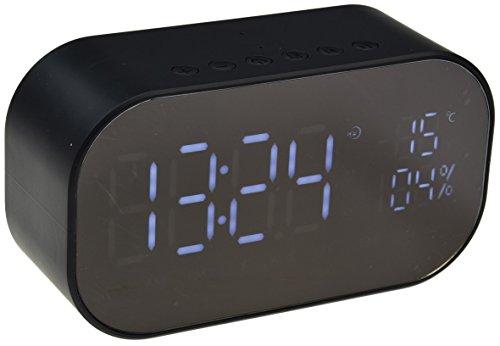 ChiliTec de Radio Reloj Despertador Radio I Bluetooth I USB/MicroSD Slot I FM Radio I Termómetro I...