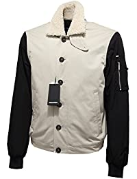DSQUARED 6781L Giubbotto Uomo Beige Nero D2 Giacche Jackets Coats Men f7d079b2a625