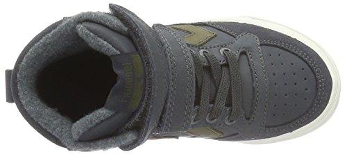 Hummel Stadil Oiled High Sneaker Jr, Sneakers Hautes Garçon Gris (Dark Shadow)