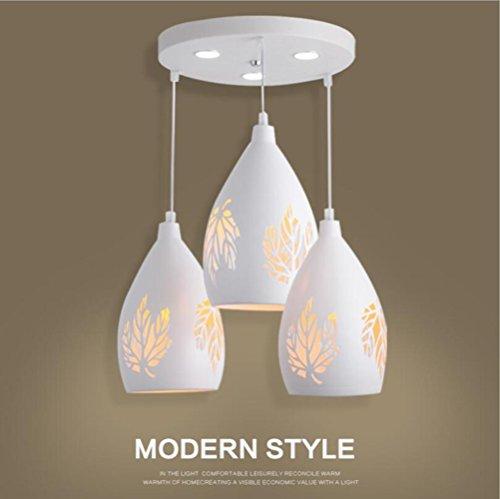 Suspensions 110-240 V Moderne Fer Led 3head pendentif lumières/Bar Café Restaurant Chambre Salon Étude lustres