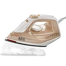AEG DB1740 Ferro da Stiro a Vapore EasyLine, Ceramica, Bianco/Ambra