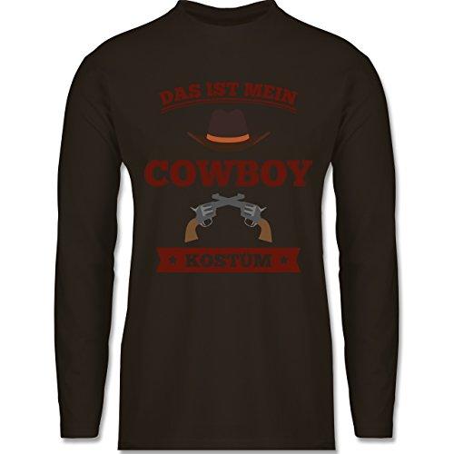 Karneval & Fasching - Das ist mein Cowboy Kostüm - Longsleeve / langärmeliges T-Shirt für Herren Braun