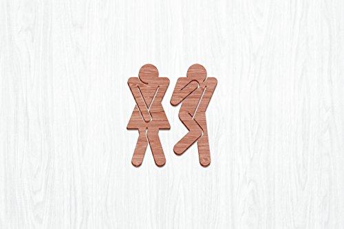 WC-Figuren Pippi und Peppone (Buchenholz)