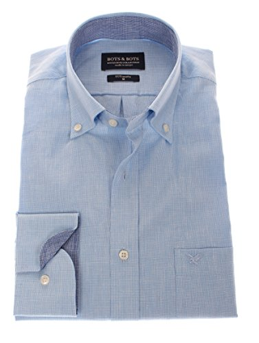 166104 - Bots & Bots Exclusive Collection - 55% Leinen / 45% Baumwolle - Button Down - Normal Fit Hellblau