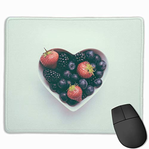Deglogse Gaming-Mauspad-Matte, Smooth Mouse Pad Blackberries Strawberries Blueberries Salad Mobile Gaming Mousepad Work Mouse Pad Office Pad Mobile Office Für Blackberry
