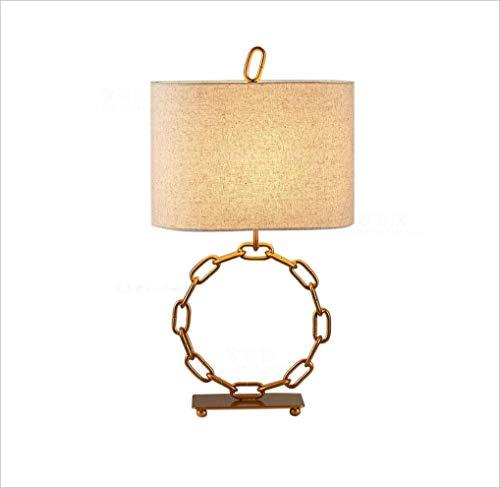 XRFHZT Vintage-Goldkette Tischlampe Schlafzimmer Nachtseitenlampe Kupferseilampe Wohnzimmer Wohnzimmer-Tabelle Lampe