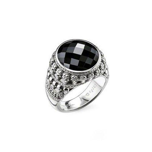 Thomas Sabo Herren-Ring Rebel at heart 925 Silber Onyx schwarz Gr. 60 (19.1) - TR2005-024-11-60