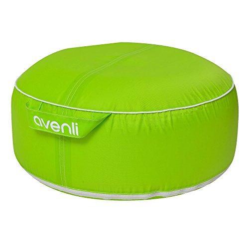 Jilong Piscine Pouf avenli Garden Pouf II, Design Coussin d'assise Gonflable, imperméable, résistant aux UV et Anti moisissure, Vert