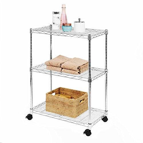 4 Regal Utility Storage (Seville Classics 4-shelf heimeliges Storage System chrome)