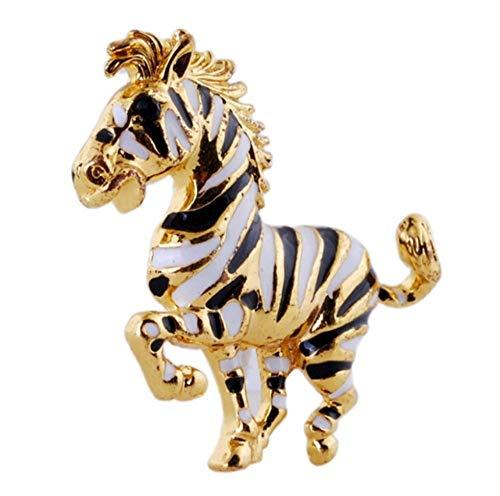 YUYINGXIANG Tierbroschen befestigt Zebra-Broschen-Goldzubehör, das Dekoration Wedding ist