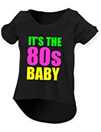 It's The 80s Baby Ladies Drop Tail Top