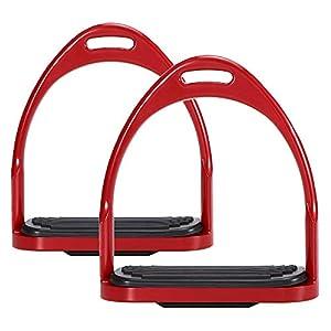 Walmeck- Horse Steigbügel Flex Aluminium Anti-Rutschpferd Pedal Reitersicherheitsausrüstung