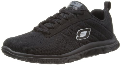 skechers-flex-appeal-sweet-spot-womens-lace-up-trainers-black-3-uk