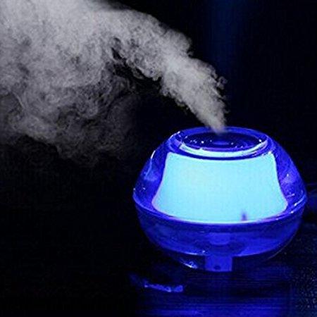 Abschaltung Kabel (ThreeH Beste Nebelbefeuchter für Meditation Trockene Sinus Augen Nase Hals Haut - Premium Mini Portable Ruhig Diffusor Nachtlicht mit Auto Sicherheit Abschaltung USB-Kabel-Adapter H-H012Blue)