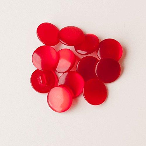 Vintage brillante rojo rubí botones 17mm-Pack de 12