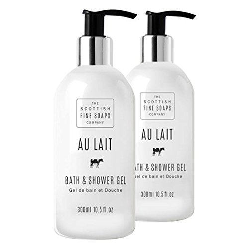 Scottish Fine Soaps Au Lait Bath & Shower Gel Twin Pack - Gel Twin Pack