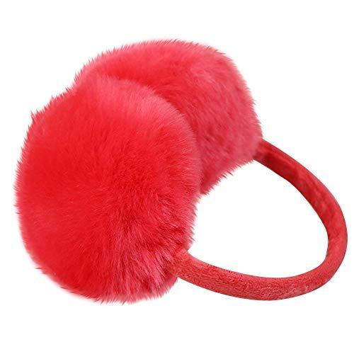 Nanxson(TM Damen Warm Plüsch Ohrwärmer Ohrenschützer Earmuff EZ0008 (Rot)