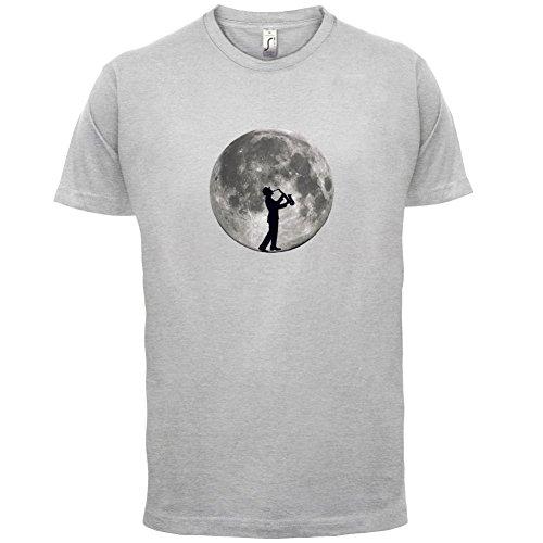 Saxophone Player Moon - Herren T-Shirt - 13 Farben Hellgrau