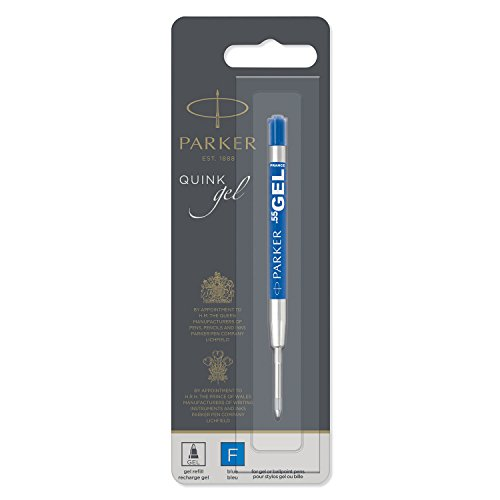 PARKER QUINK recambio de tinta de gel, punta fina (0,5mm), azul, una unidad
