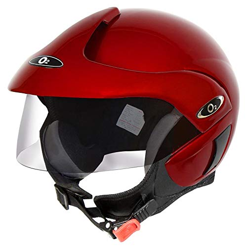O2 Open Face Perl Red with Tinted Visor