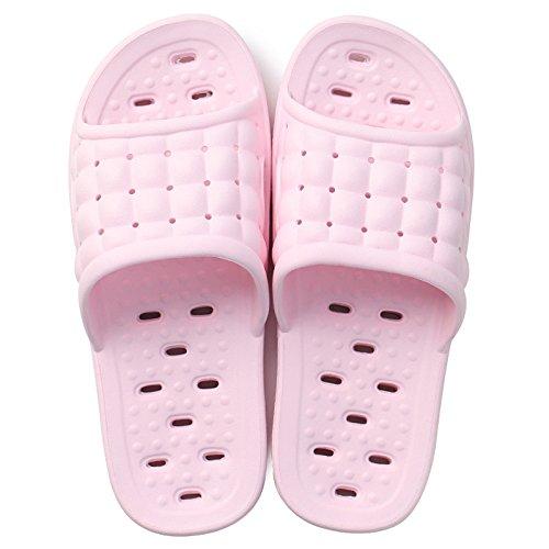 DogHaccd pantofole,Bagno pantofole estate femmina skid bagno balneare home indoor giovane home soft fondo sandali uomini Rosa