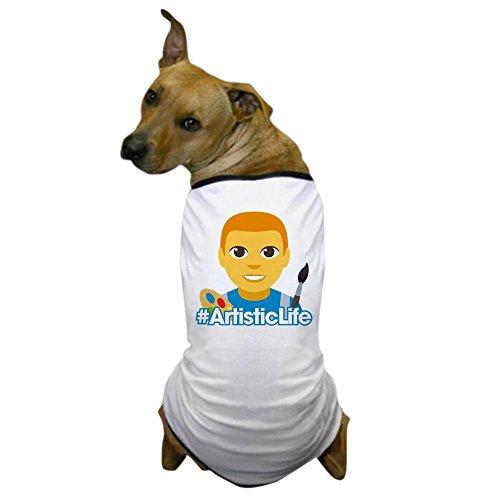 CafePress Emoji Artist Life Hashtag Hunde-T-Shirt