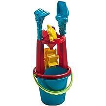 Juguetes de agua para niños para el baño, la playa, piscina y jardín. Juguetes para niños para jugar con la arena o con el agua. Set de 6 juguetes de exterior de colores variados resistentes y seguros