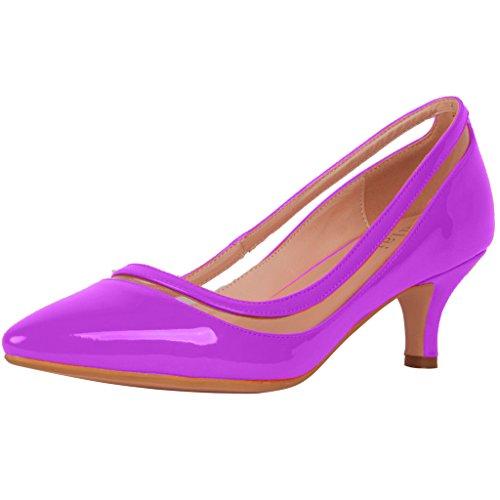 Calaier Femme Experience 9.5CM Aiguille Glisser Sur Escarpins Chaussures Violet