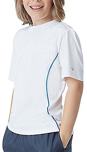 Fila Boys Fundamental Crew Shirt White / Imperial Blue