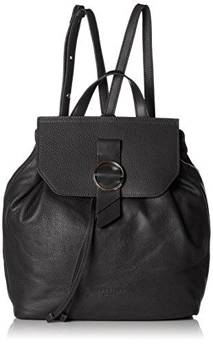 Liebeskind Berlin Damen Backpackm Worldt Rucksackhandtasche, Schwarz (Black), 13x27x35 cm