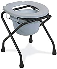 fastwell commode chair folding (commode stool with bucket)