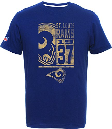 NFL Football T-Shirt Los Angeles St.Louis Rams Roedy Navy est. 1937 (XL) (St Louis Rams Jersey)