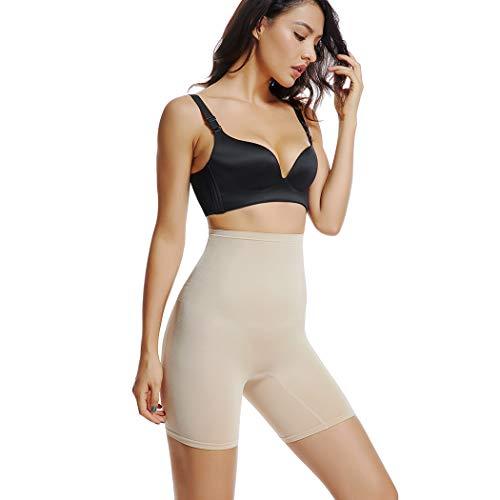 Joyshaper Miederhose Damen Bauch Weg Stark Formend Miederpants mit Bein Hohe Taille Taillenformer Shaper Shapewear angenehme Figurformende Unterwäsche Nahtlose (Beige-Medium Control #1, X-Large)
