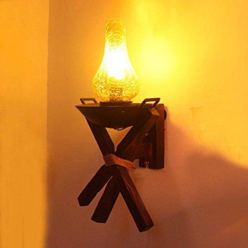 Xin lampada da parete creativa di personalità di retro barra industriale del retro della grata della lanterna dell'oggetto d'antiquariato della lanterna antica