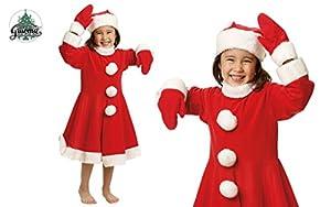 Guirca grafoplas Disfraz de niña Papá Noel 3/4años con Sombrero, Color Rojo, GU _ 42697