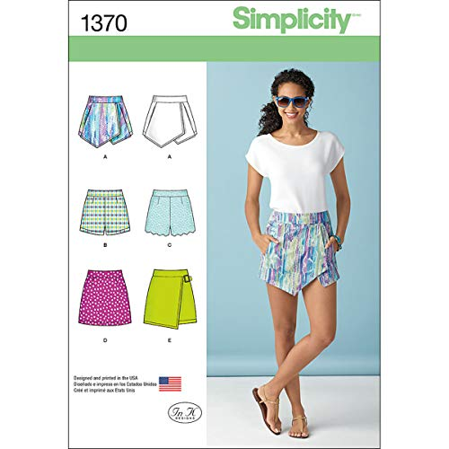 Simplicity 1370Größe D5Schnittmuster Shorts Skort und Rock Schnittmuster -
